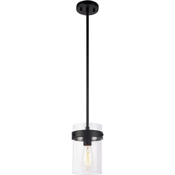 Zale 1-Light Pendant | Black