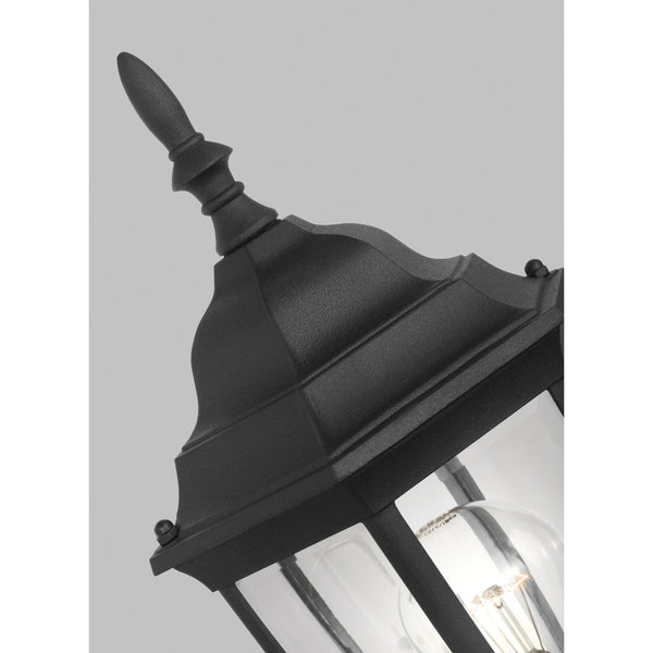 Bakersville Wall Lantern | Clear Black