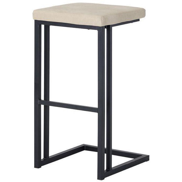 Boomer Bar/Counter Stool | Black/Bravo Cream (Set of 2)