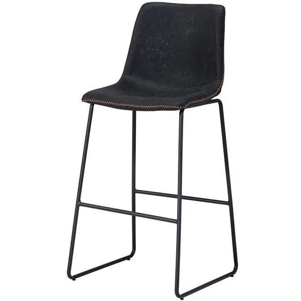Caldwell Bar/Counter Stool | Antique Black (Set of 2)