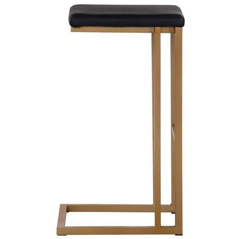 Boomer Bar/Counter Stool | Champagne Gold/Onyx