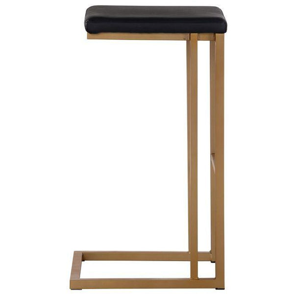 Boomer Bar/Counter Stool | Champagne Gold/Onyx (Set of 2)