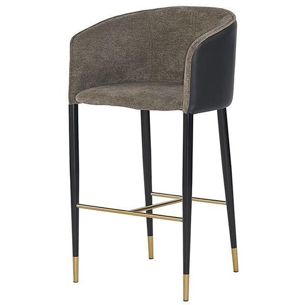 Ashton Bar/Counter Stool | Grey/Black
