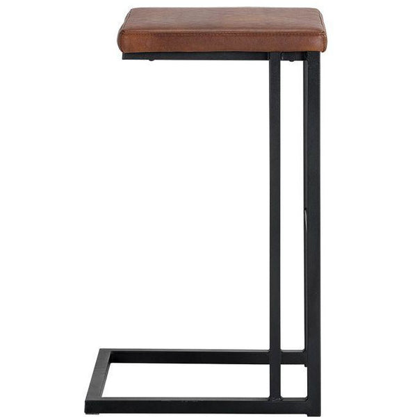 Boomer Bar/Counter Stool | Black/Bravo Cognac (Set of 2)