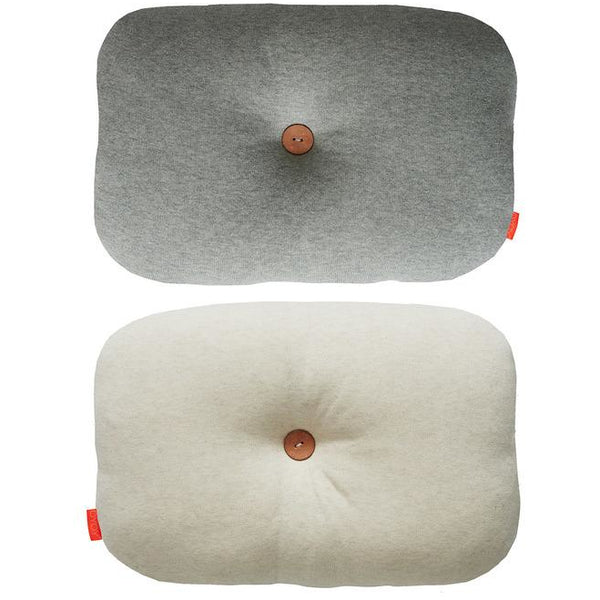 Bumble Pillow Light Gray/Off White