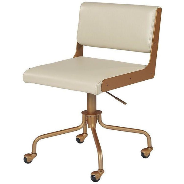 Davy Office Chair | Champagne Gold/Cream
