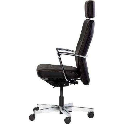 Denis Office Chair | Black Leather