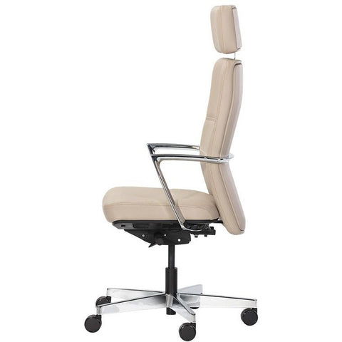 Denis Office Chair | Cream Leather