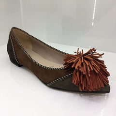 Lodi Tan Flat Shoe