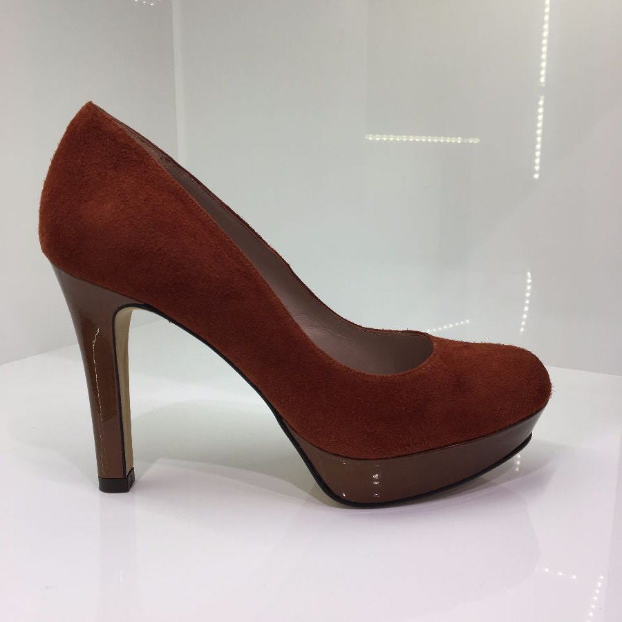 Lodi Orange High Heel Shoe