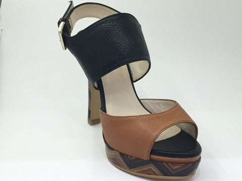 Lodi Black and Tan Sandal