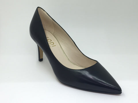 Lodi Black Low Heel Shoe