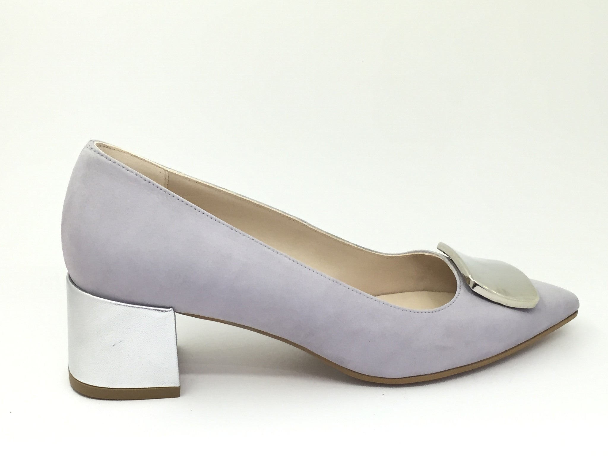 Lodi Grey Low Heel Shoe