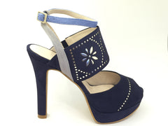 Lodi Navy High Heel Shoe