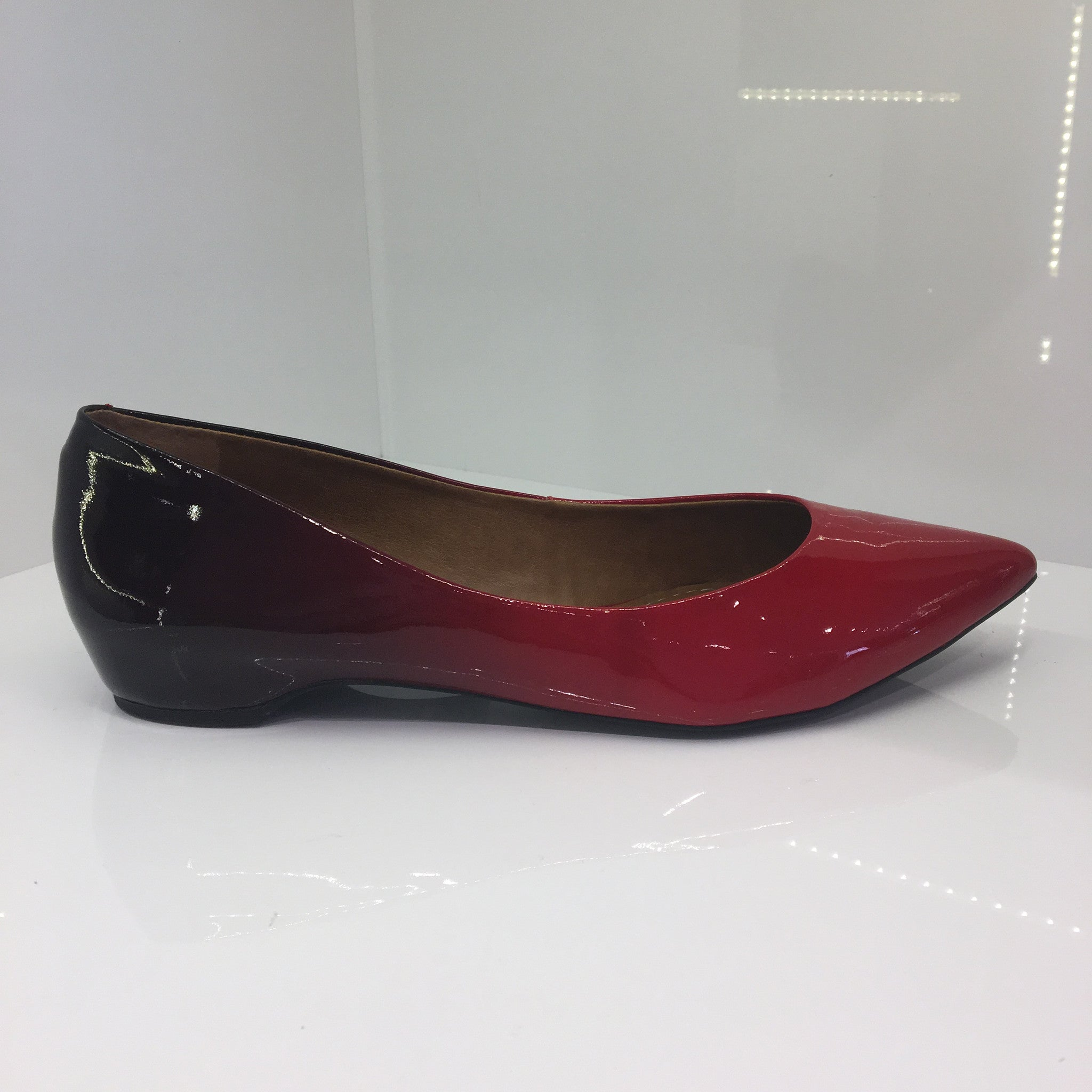Moda in Pelle Red Flat Shoe