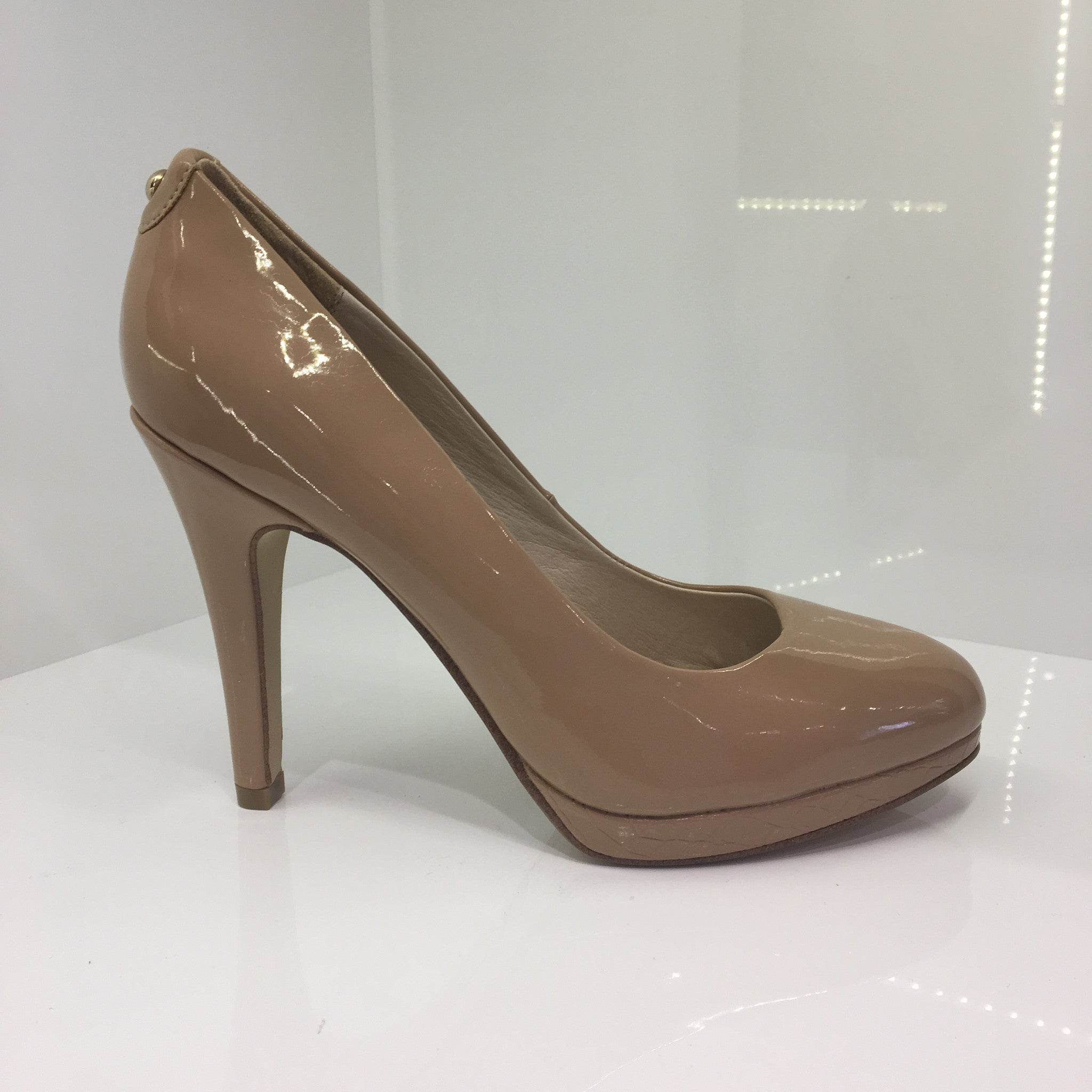 Moda in Pelle Nude High Heel Shoe