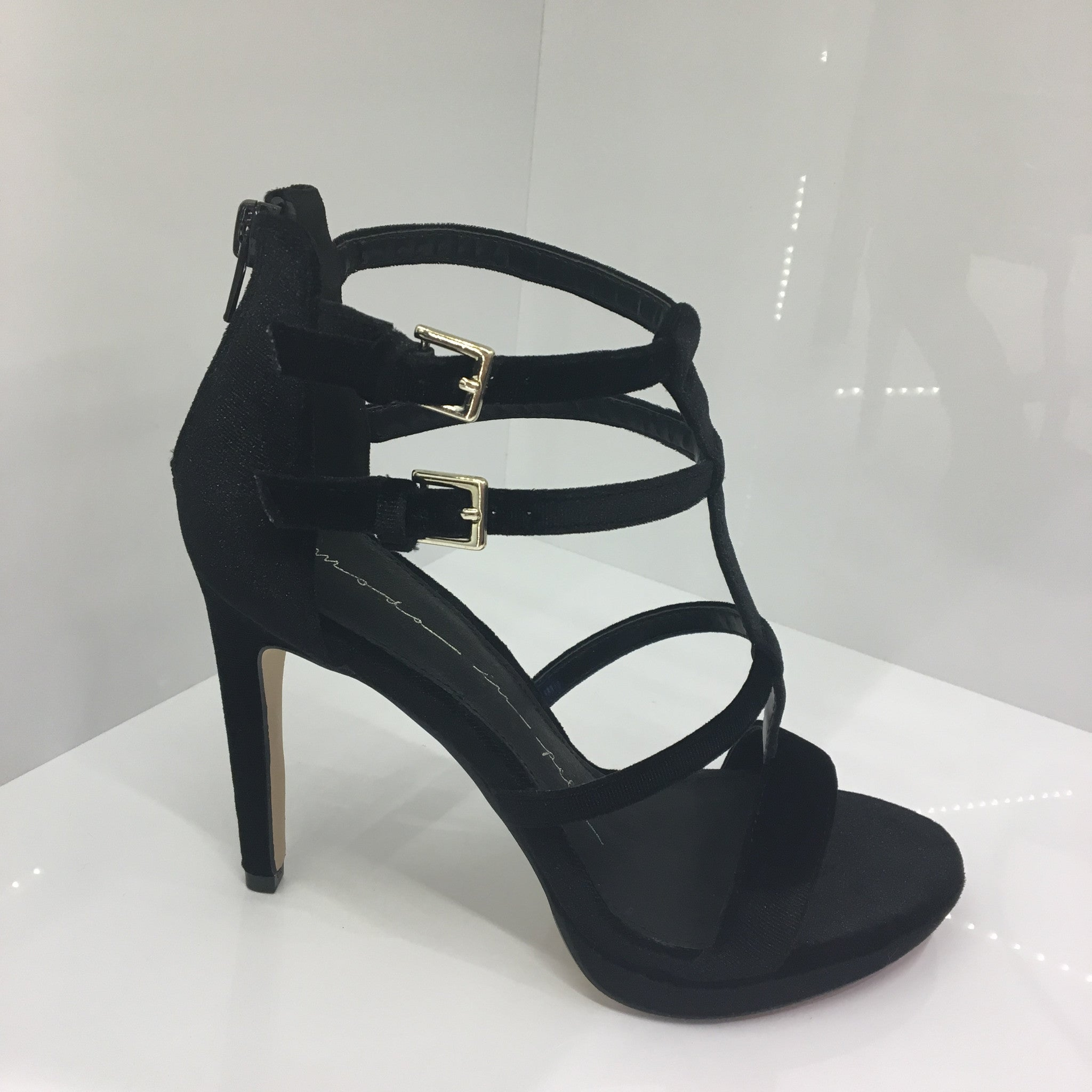 Moda in Pelle Black Sandal