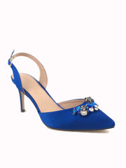 Menbur Royal Blue Sling Back Heel