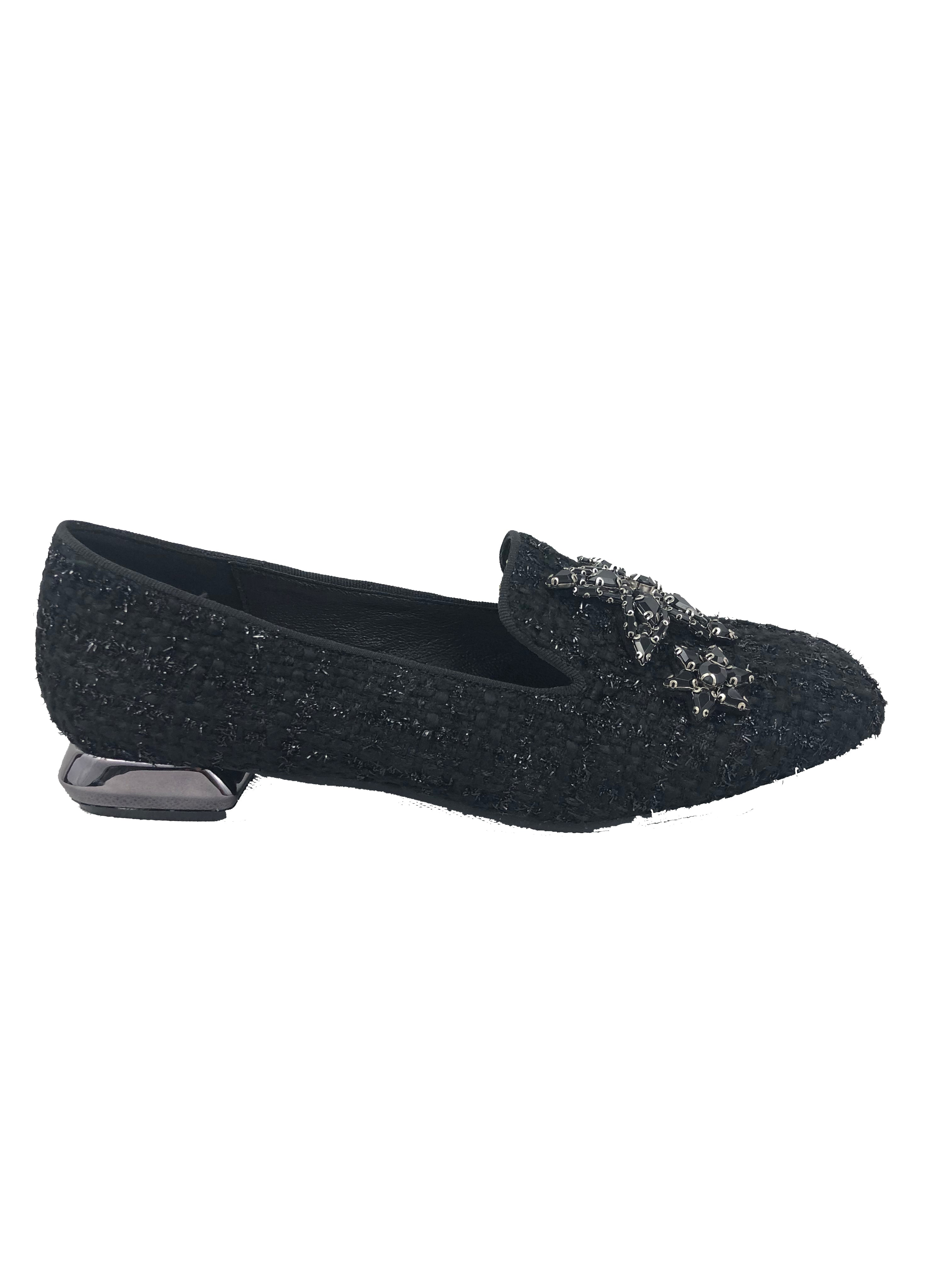 Menbur Black Tweed Pumps