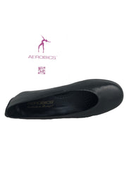 Aerobics Black Wedge Pumps