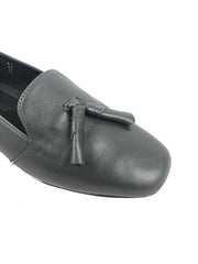 Aerobics Grey Leather Pumps