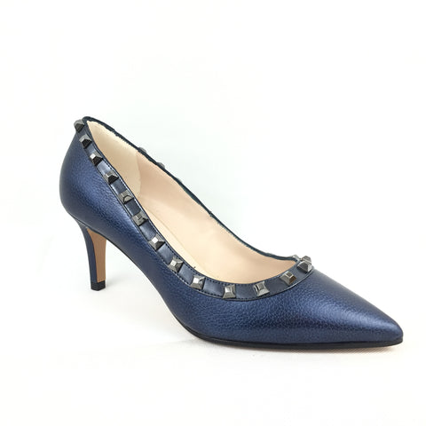 Lodi Navy Low Heel Shoe