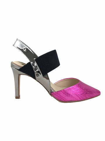 Una Healy Pink and Silver Slingback