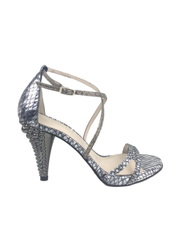 Lodi silver and gold snake sandal