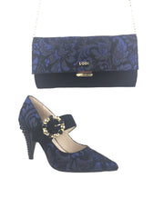 Lodi Black and Blue Gucci Inspired Heels