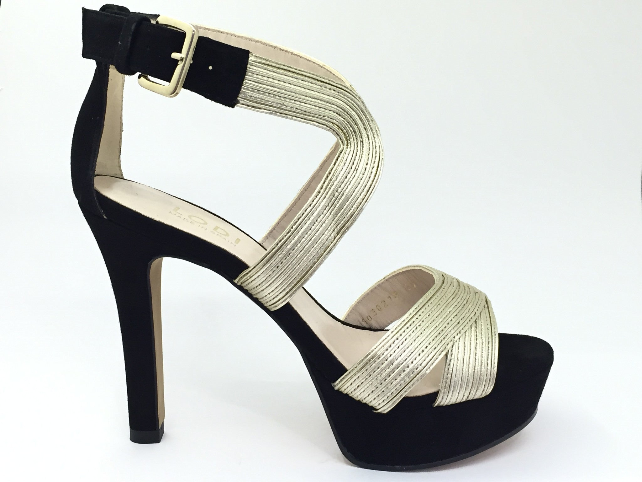 Lodi Black High Heel Sandal