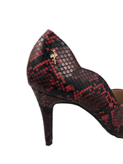 Menbur Red Snake Print Courts