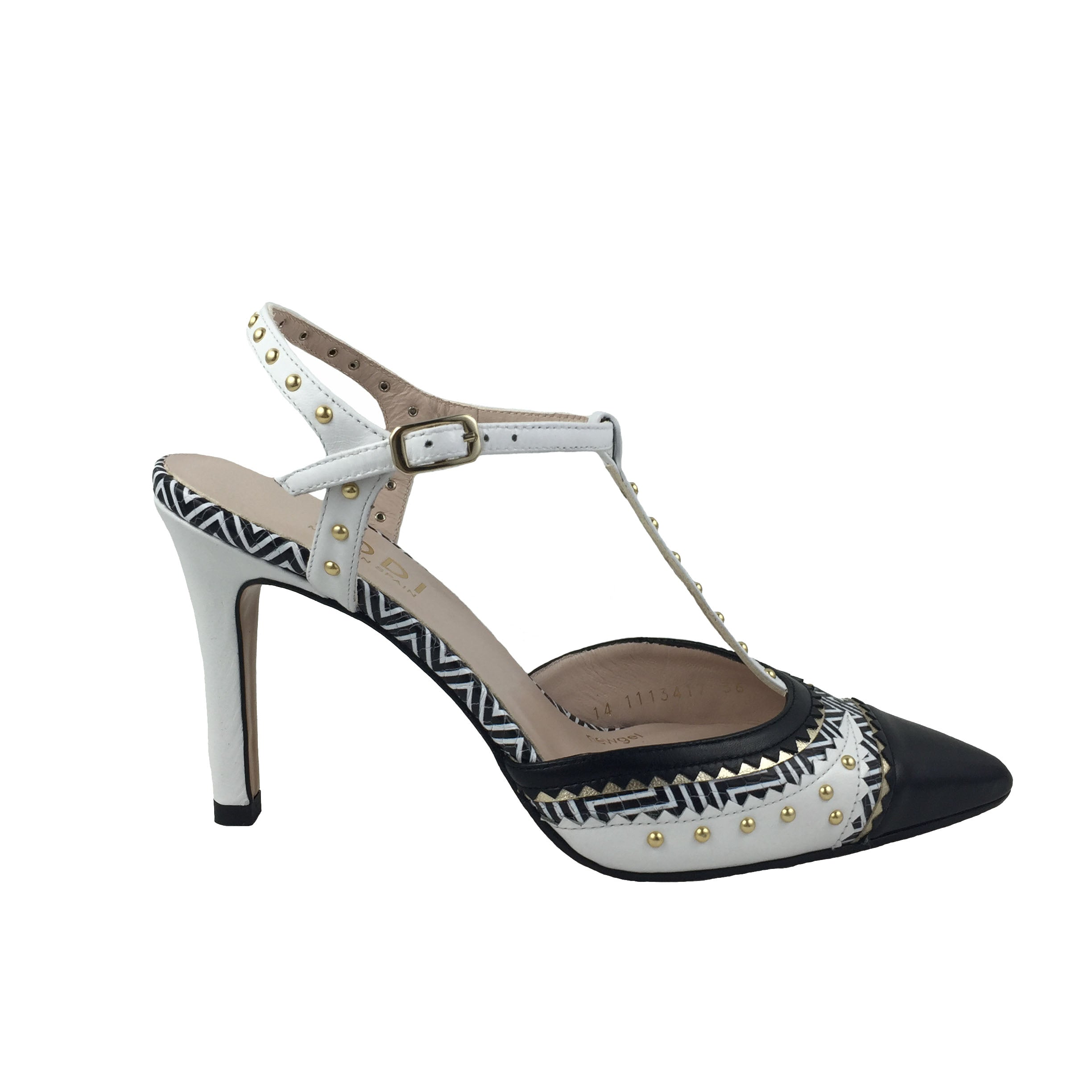 LODI Black and White Sling Back Court