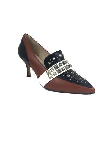LODI Black and Tan Low Court Shoe
