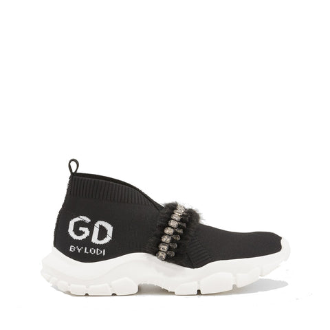 Gadea Black Sporty Sock Trainers