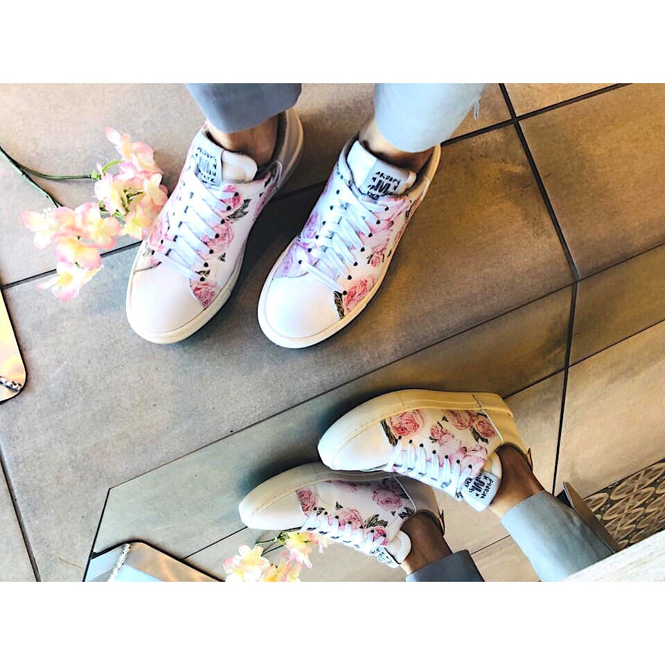 Meline White Rose Trainers