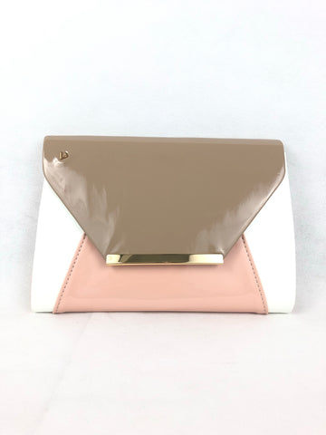 Una Healy Pink/white/taupe Clutch