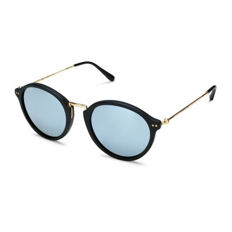 Kapten&Son Maui Matt Black Blue Mirrored
