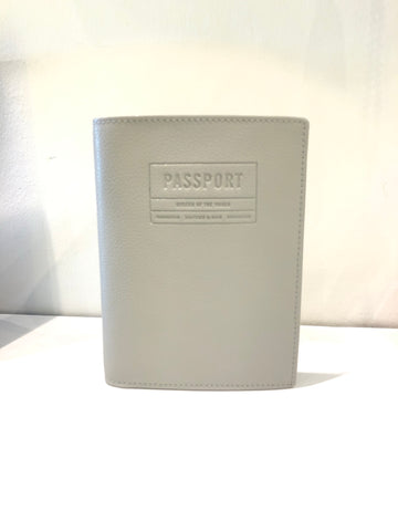 Kapten&Son Grey Leather Passport Cover