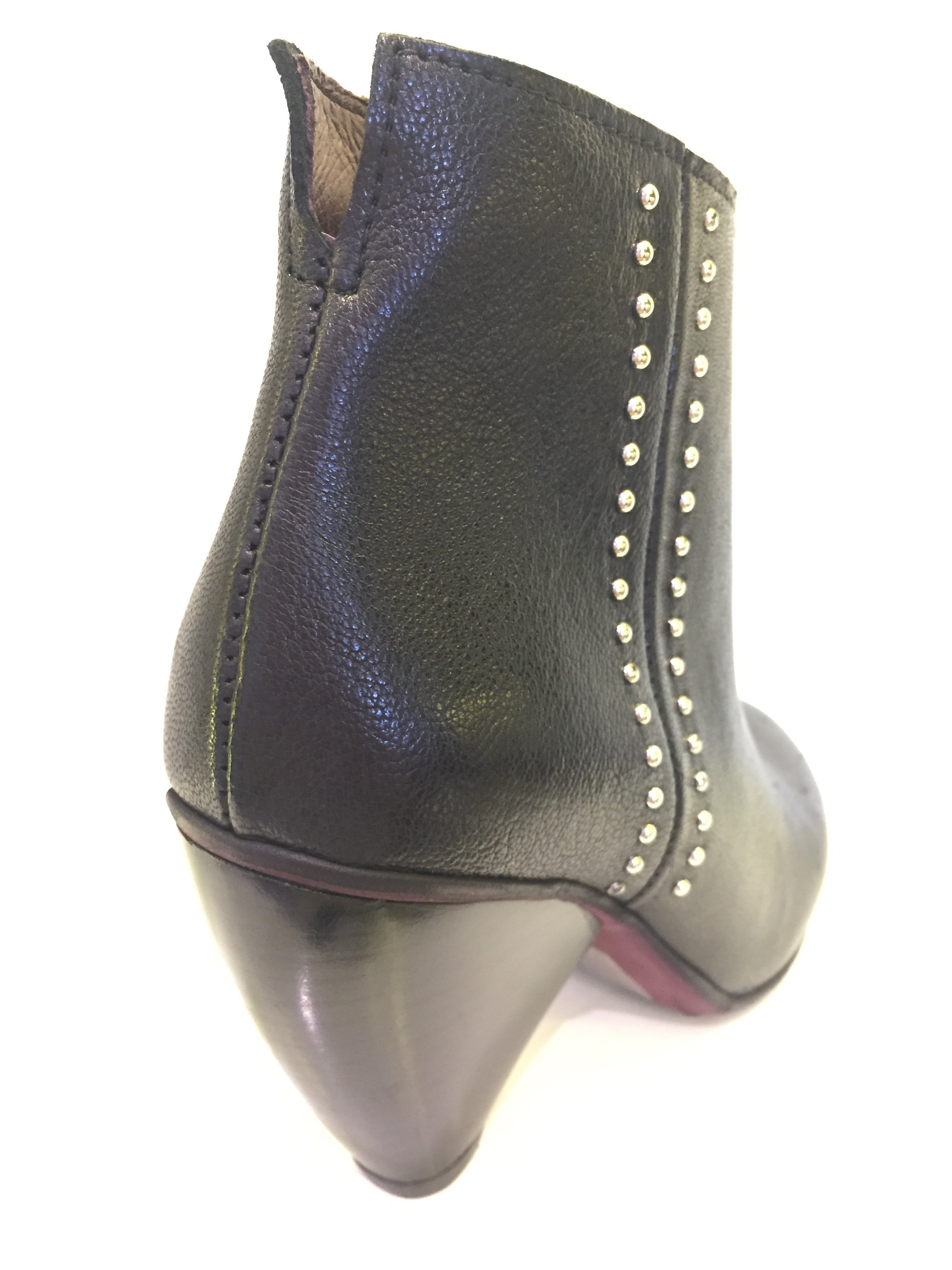 SpazioZero8 Black Peg Heel Boot