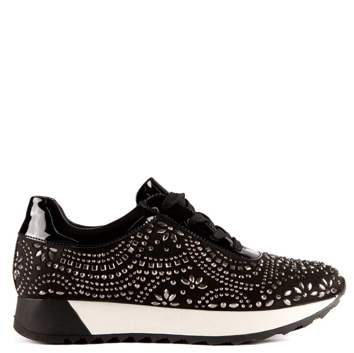 Migato Embellished Black Trainers