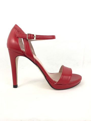 Menbur Red Leather Sandal