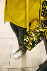 Meline White & yellow Trainers
