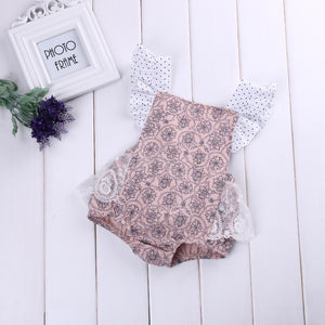 Romper Lace & Dots