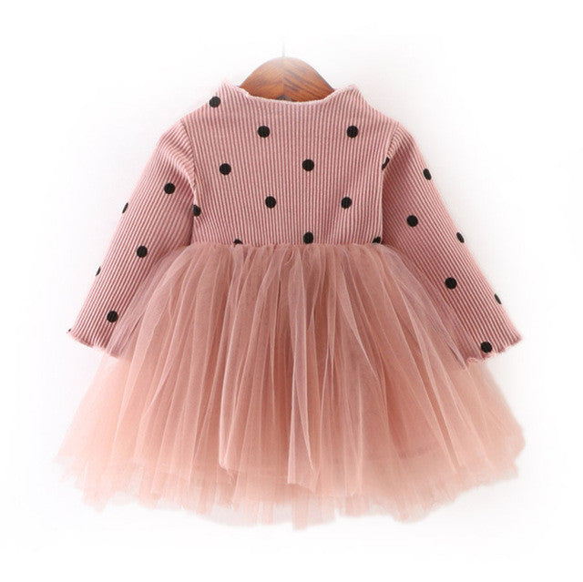 Dress Long Sleeve Dot