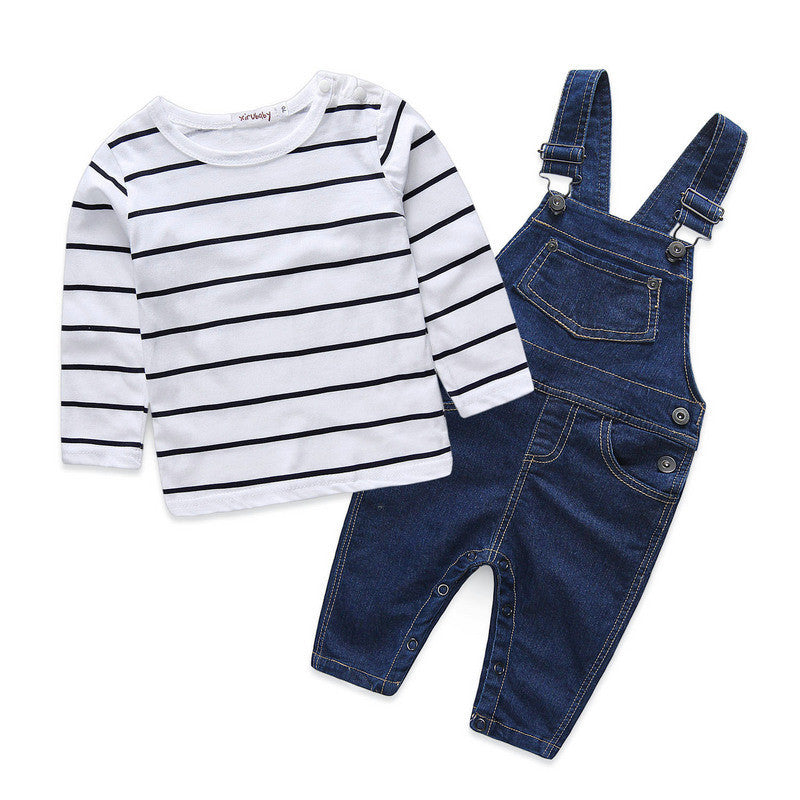 Overall Set Striped