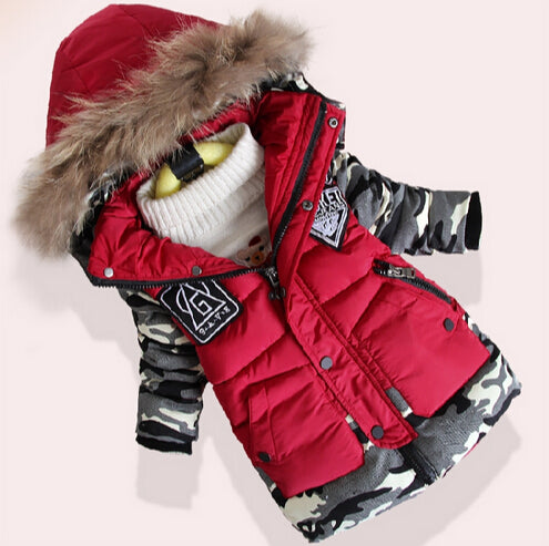 Winter Down Jacket Warm Thick Cotton Faux Fur