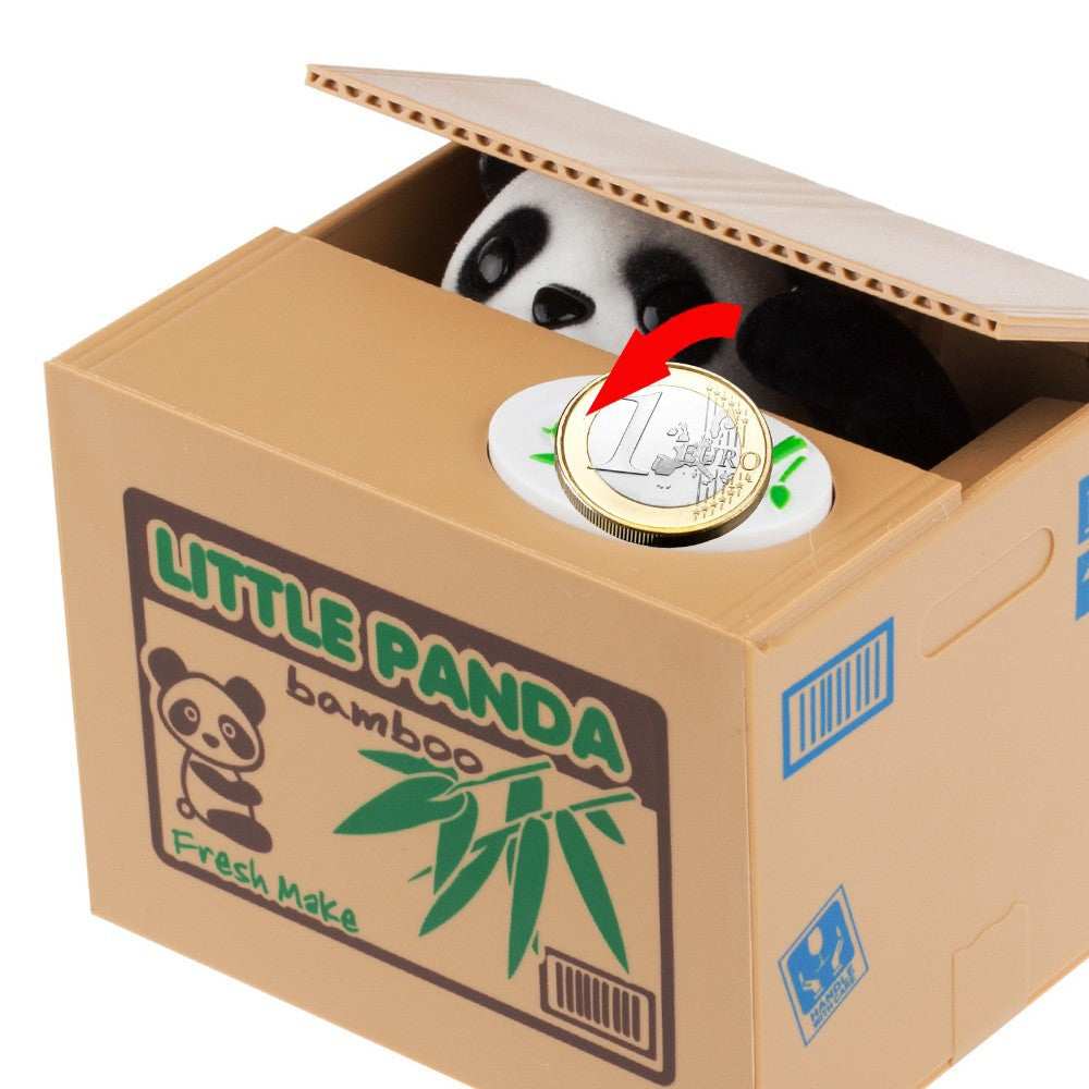 Panda Thief Money Piggy Bank
