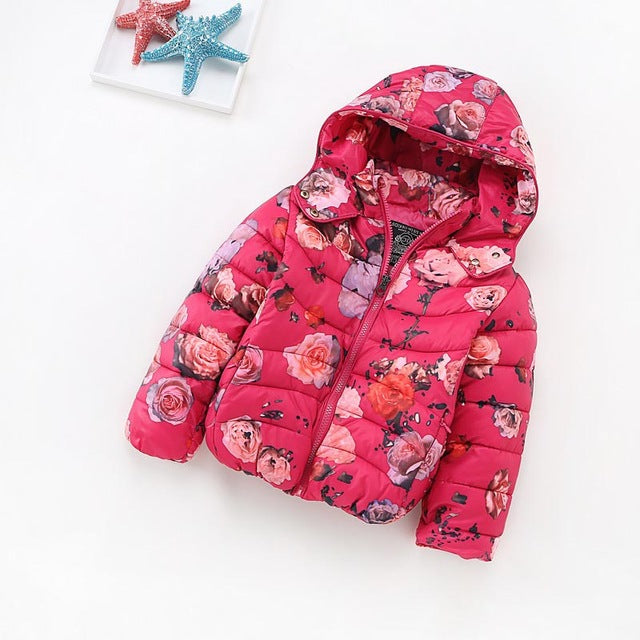 Winter Jacket Floral Print
