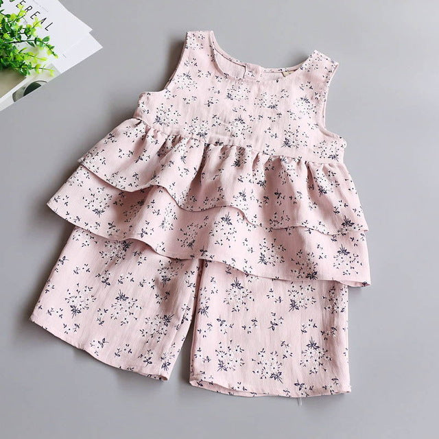 Set Top & Shorts Flower