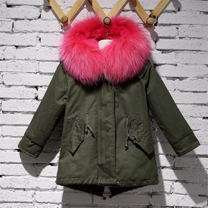 Army Coat Real Rabbit Fur